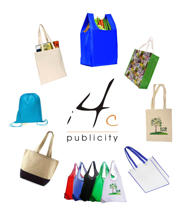 personalised tote bags custom plastic bags promotional bags mercchandisee - Custom Plastic Bags