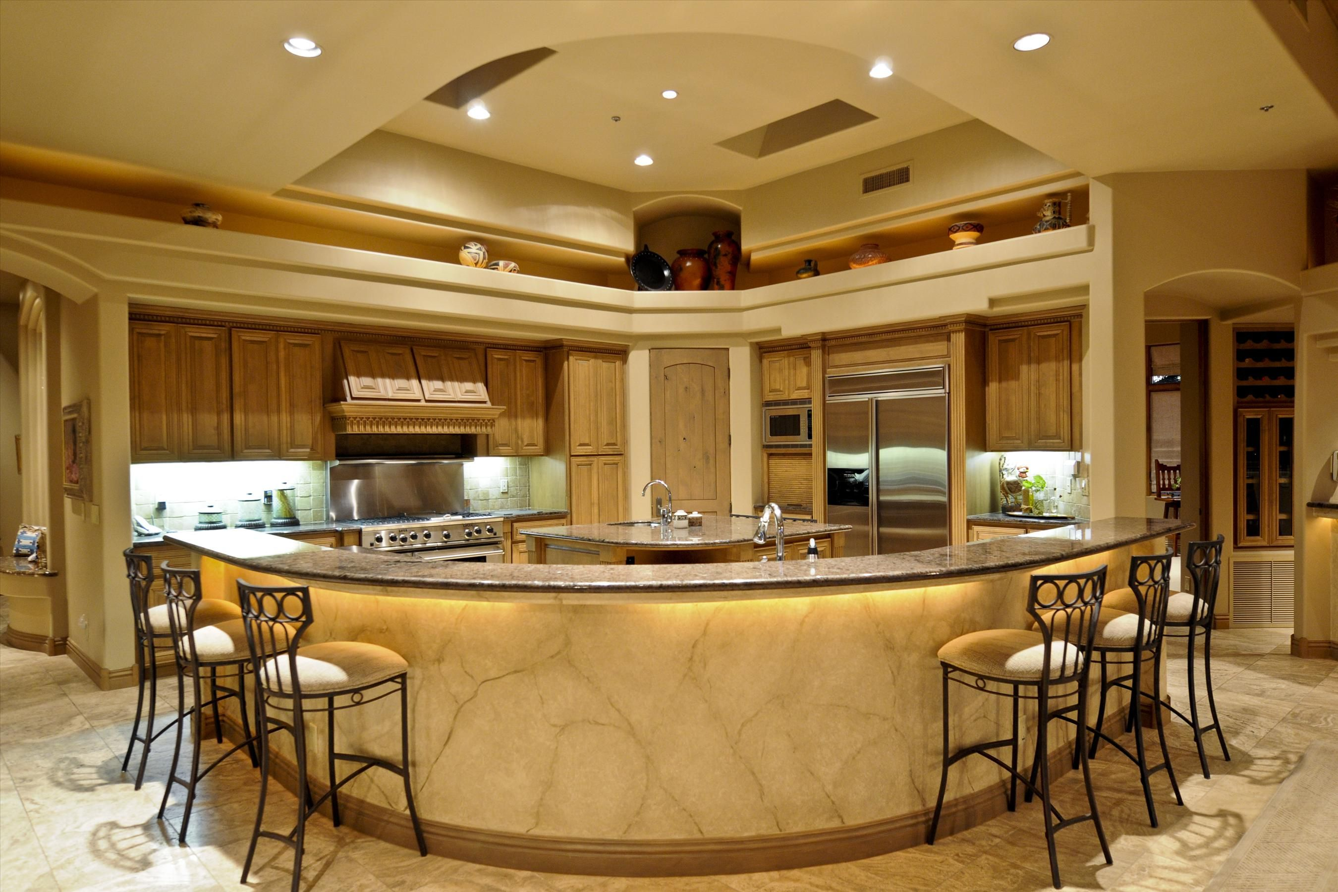 Premier luxury kitchens custom designed and for Luxury kitchen layout