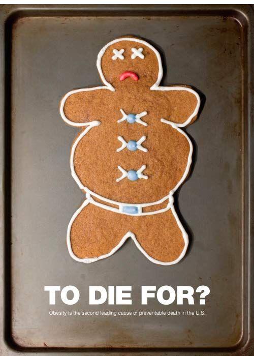 Milos Roganovic | Print Portfolio | Advertising | Obesity Awareness Poster