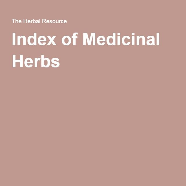 Index of Medicinal Herbs