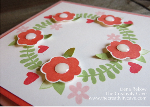 Wreath Card from Friday Quickie Video Tutorial using Stampin Up's Endless Thanks Stamp set