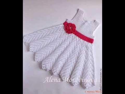 como hacer un vestido para bebe en crochet