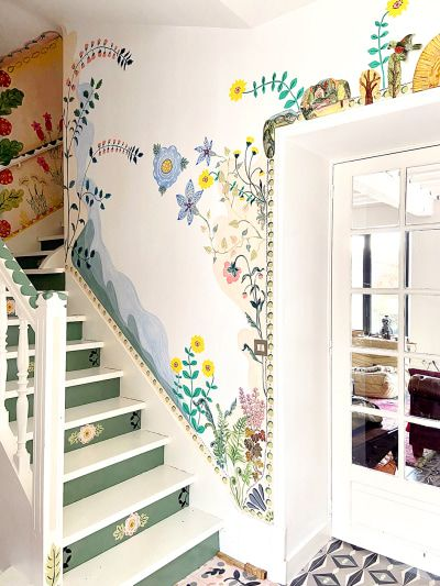 French Artist Nathalie Lete Is Painting Her Home Full of Flowers