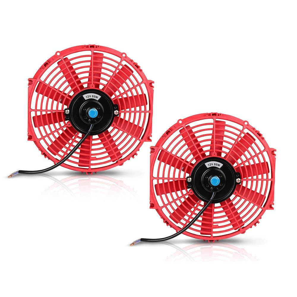 Pack Of 2 12 Electric Radiator Cooling Fan Push Pull Electric