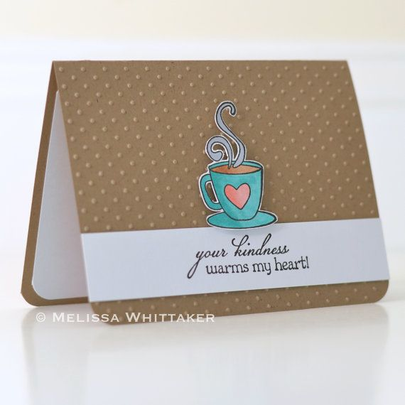 Your Kindness Warms My Heart Thank You Card By Perfectlooppaper