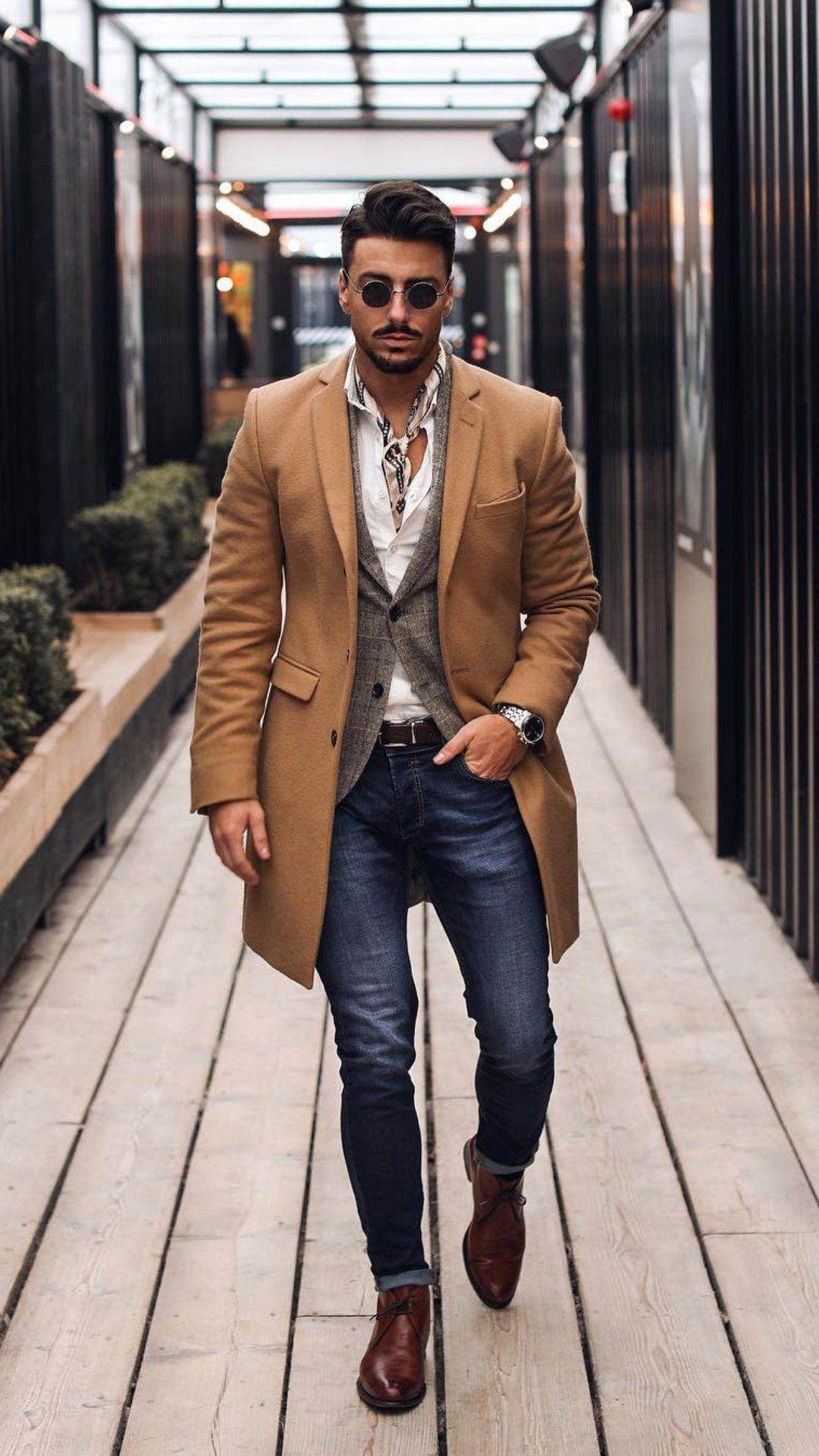 5 dapper winter outfits for men in 2019 moda fashion. Black Bedroom Furniture Sets. Home Design Ideas