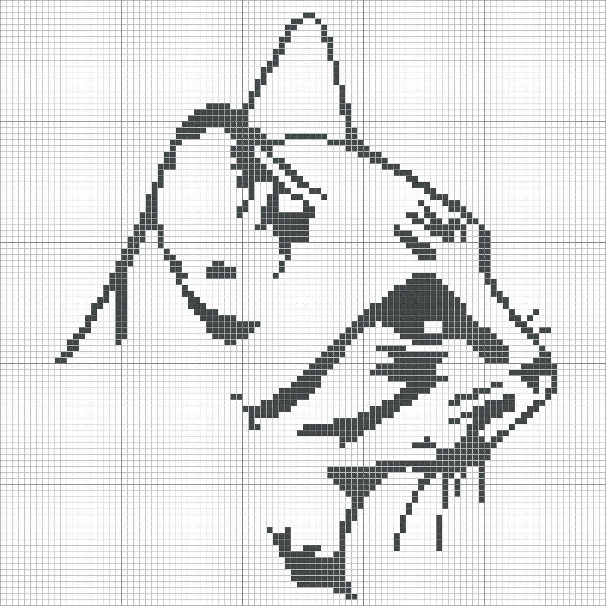Cat grilles point de croix grille gratuite t te de chat - Grille point de croix gratuite a imprimer ...