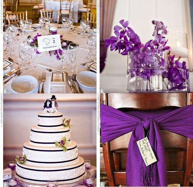 Deco mariage d co de mariage pinterest for Decoration mauve et gris