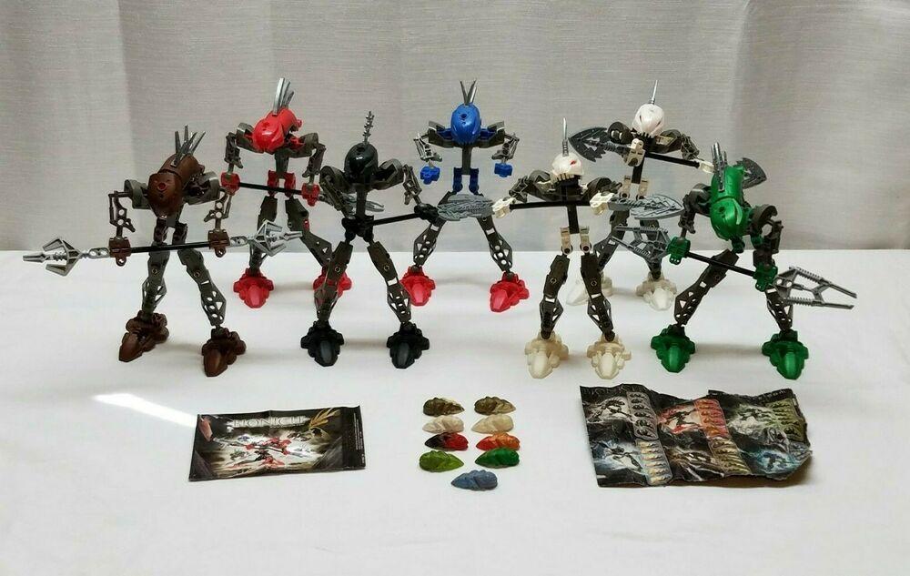 Lego Bionicle Rahkshi Lot 8587 8588 8589 8590 8591 8592