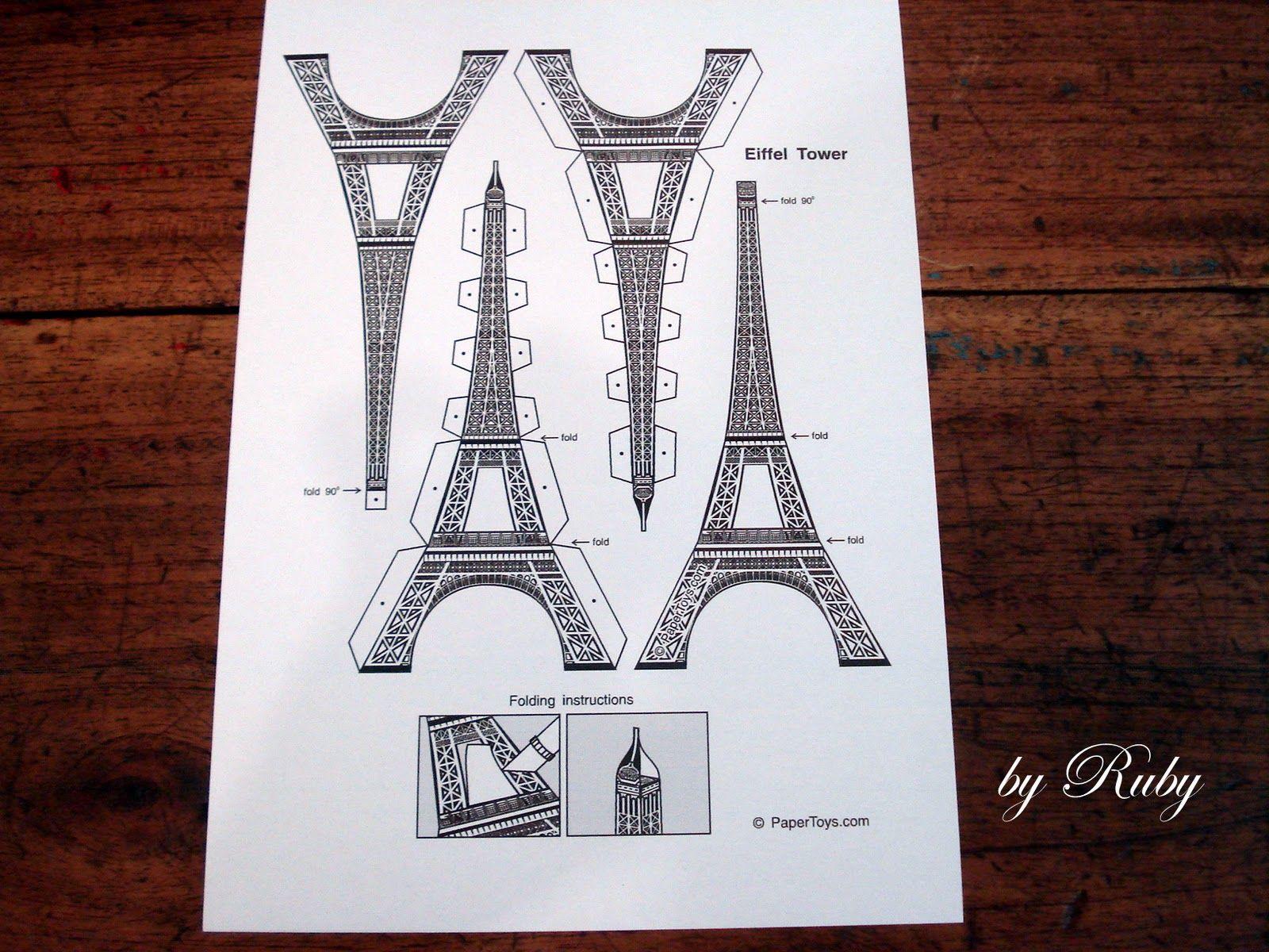 Molde De Torre Eiffel Para Imprimir Pesquisa Google Torre Eiffel