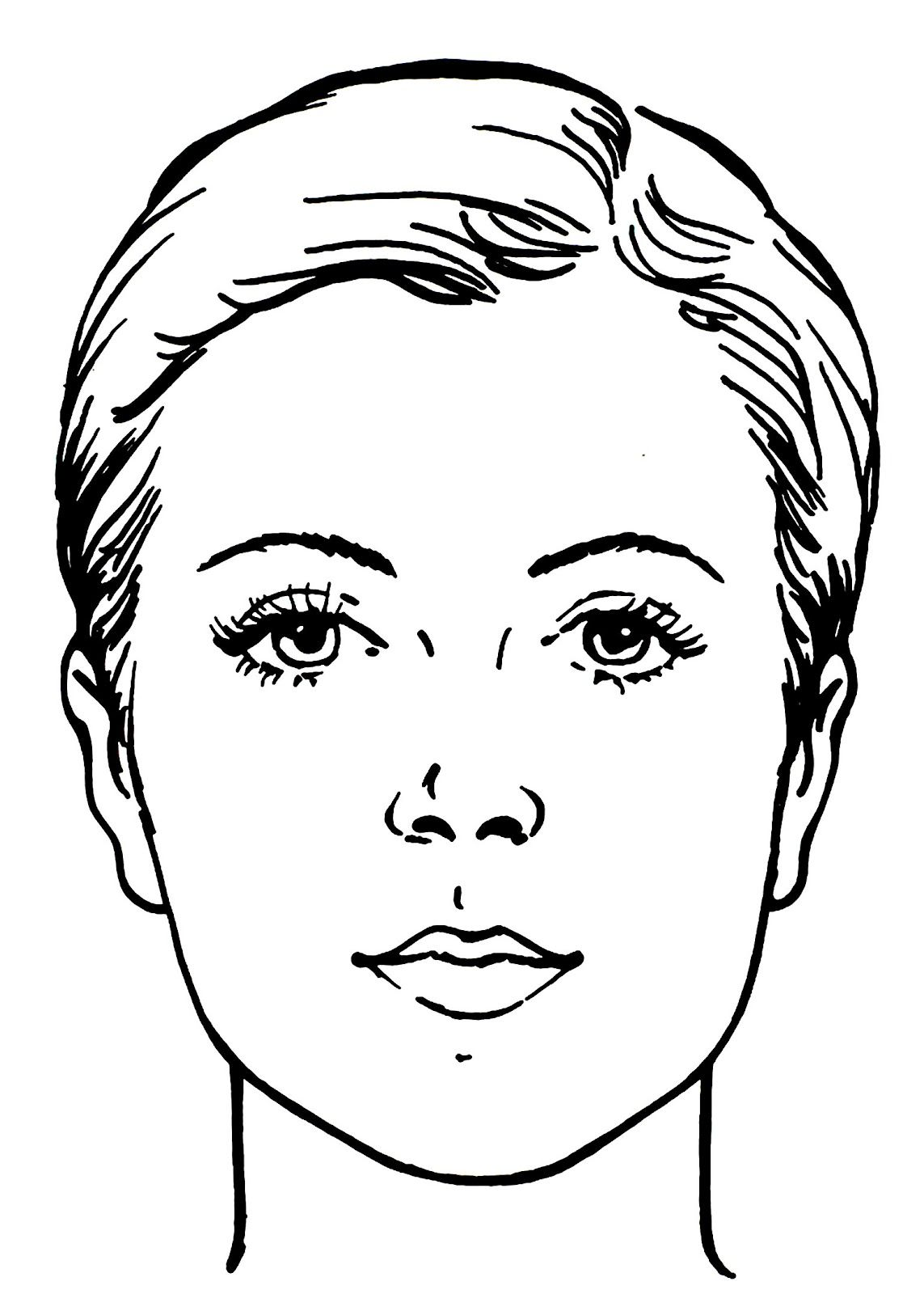 Blanco Facecharts To Create Makeup Looks On Paper Great For Makeup School Or Moodboards Print