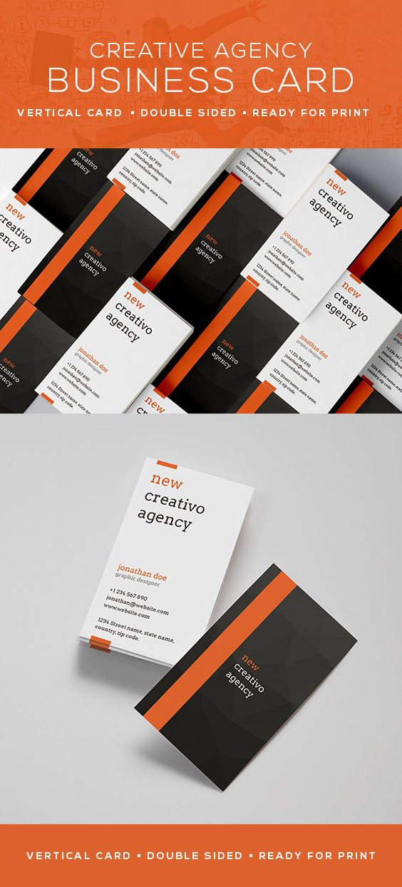Creative agency business card 35 creative business cards creative agency business card 35 reheart Gallery