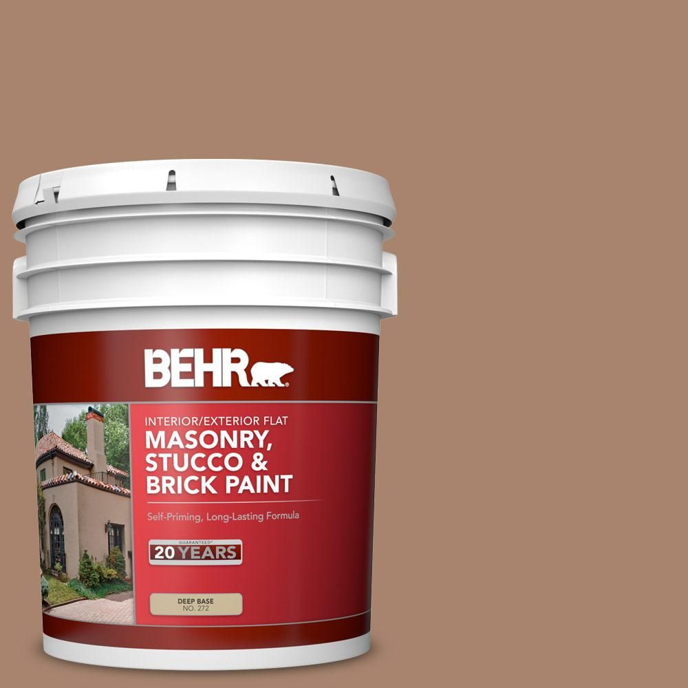 BEHR 5 gal. #ecc-59-1 Antique Chest Flat Interior/Exterior Masonry, Stucco and Brick Paint