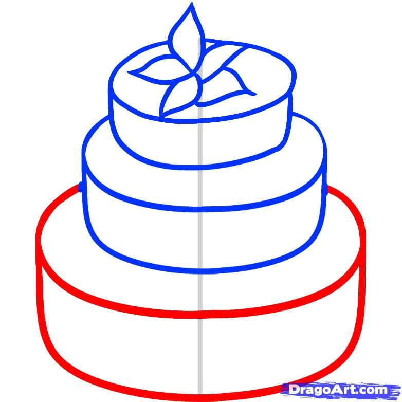 How To Draw A Wedding Cake by Dawn (With images) Cake