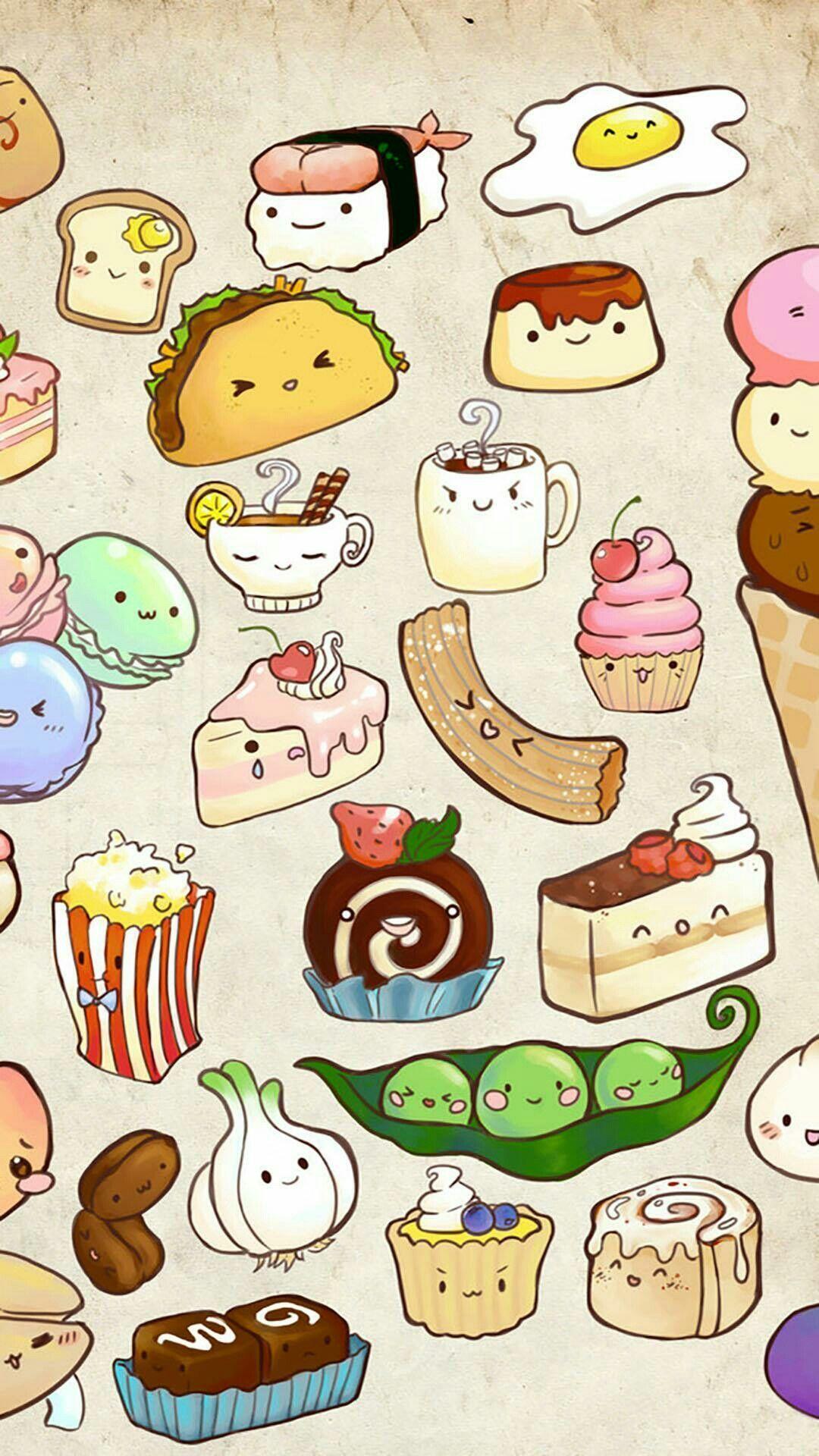 Cute Food Iphone Wallpapers Hupages Download Iphone Wallpapers Cute Food Wallpaper Food Wallpaper Cute Food Drawings