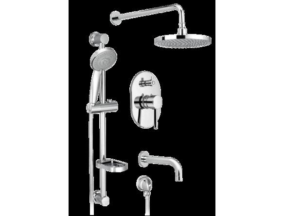 Bathdepotca PRESSURE BALANCED BATHTUB AND SHOWER FAUCET KIT