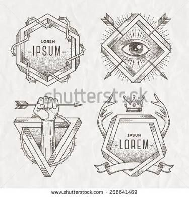 tattoo design line art crystals - Google Search