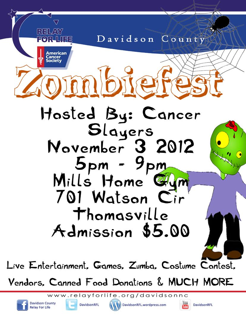 zombiefest 2012. cool idea for a fundraiser around halloween