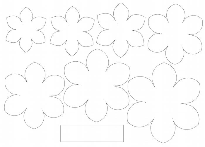 Цветы из бумаги для открытки своими руками с шаблонами