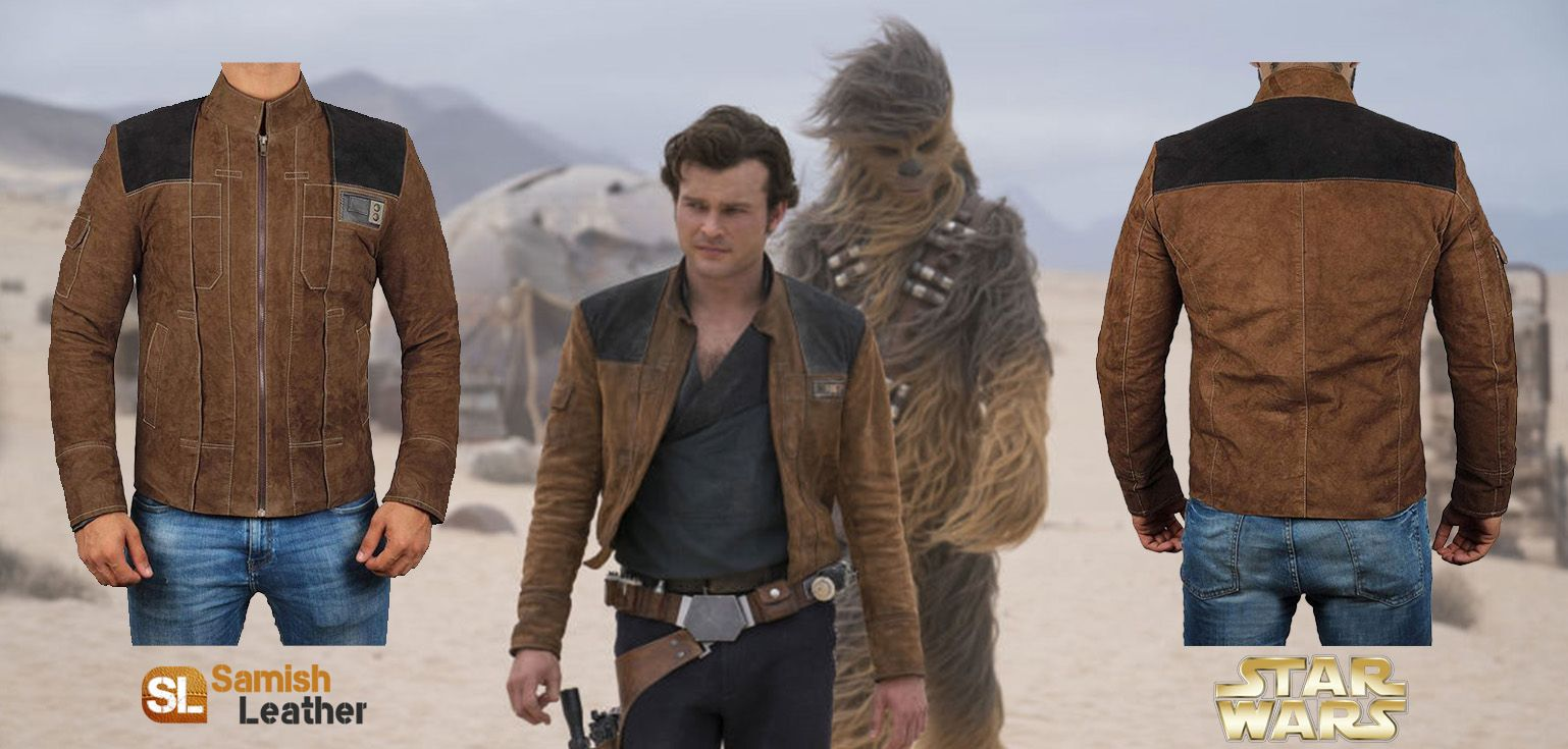A Star Wars Story Han Solo Brown Suede Jacket Brown Suede Jacket War Stories Suede Jacket [ 735 x 1538 Pixel ]