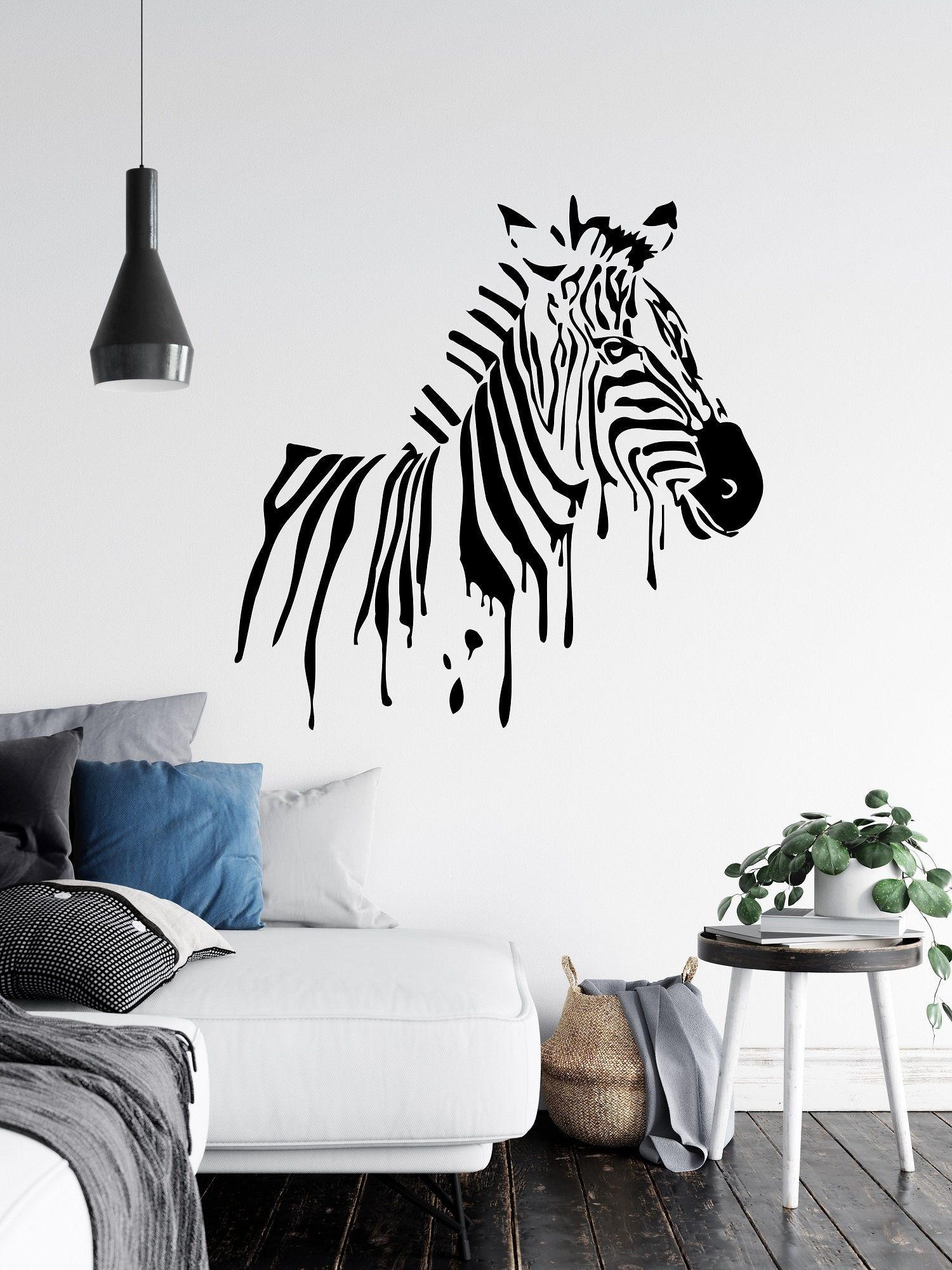 Zebra Wall Decal Zebra Wall Decor African Wall Decal Safari Animals Decal Wall Decoration Living Room Bedroom Animals Wall Decor Sb122 In 2020 Zebra Wall Decor Zebra Wall Decals Zebra Wall
