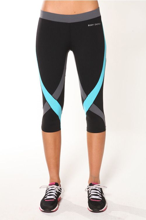 229b5ee49b969 Criss Cross 3/4 Tights- Black/Grey/Blue :: Blockout Clothing - womens  fashion, sporting, gym, dresses, skirts and much more.