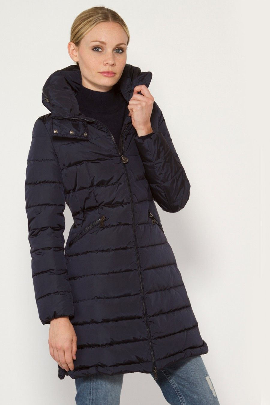 MONCLER Flammette High-Neck Puffer Coat. #moncler #cloth #