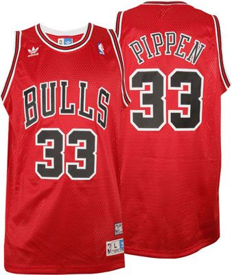 new product eb28c e2095 Scottie Pippen Jersey: adidas Red Throwback Swingman #33 ...