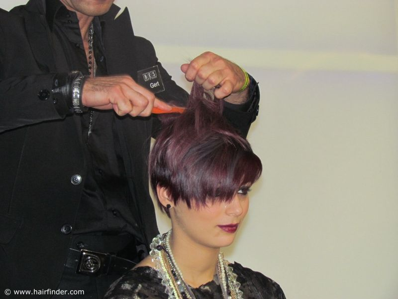 Short Hair With Purple Coloring Beautiful Short Pixie Hairstyle
