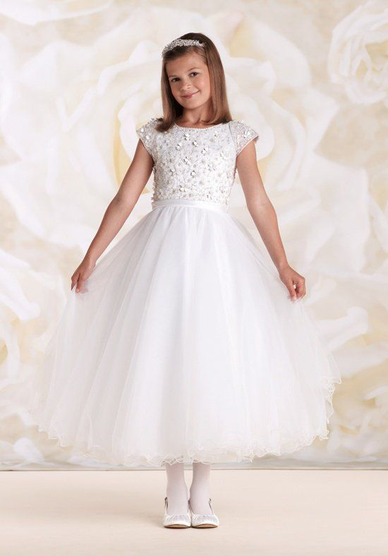 f7253bafd Joan Calabrese by Mon Cheri 115309 White Flower Girl Dress | Donna ...