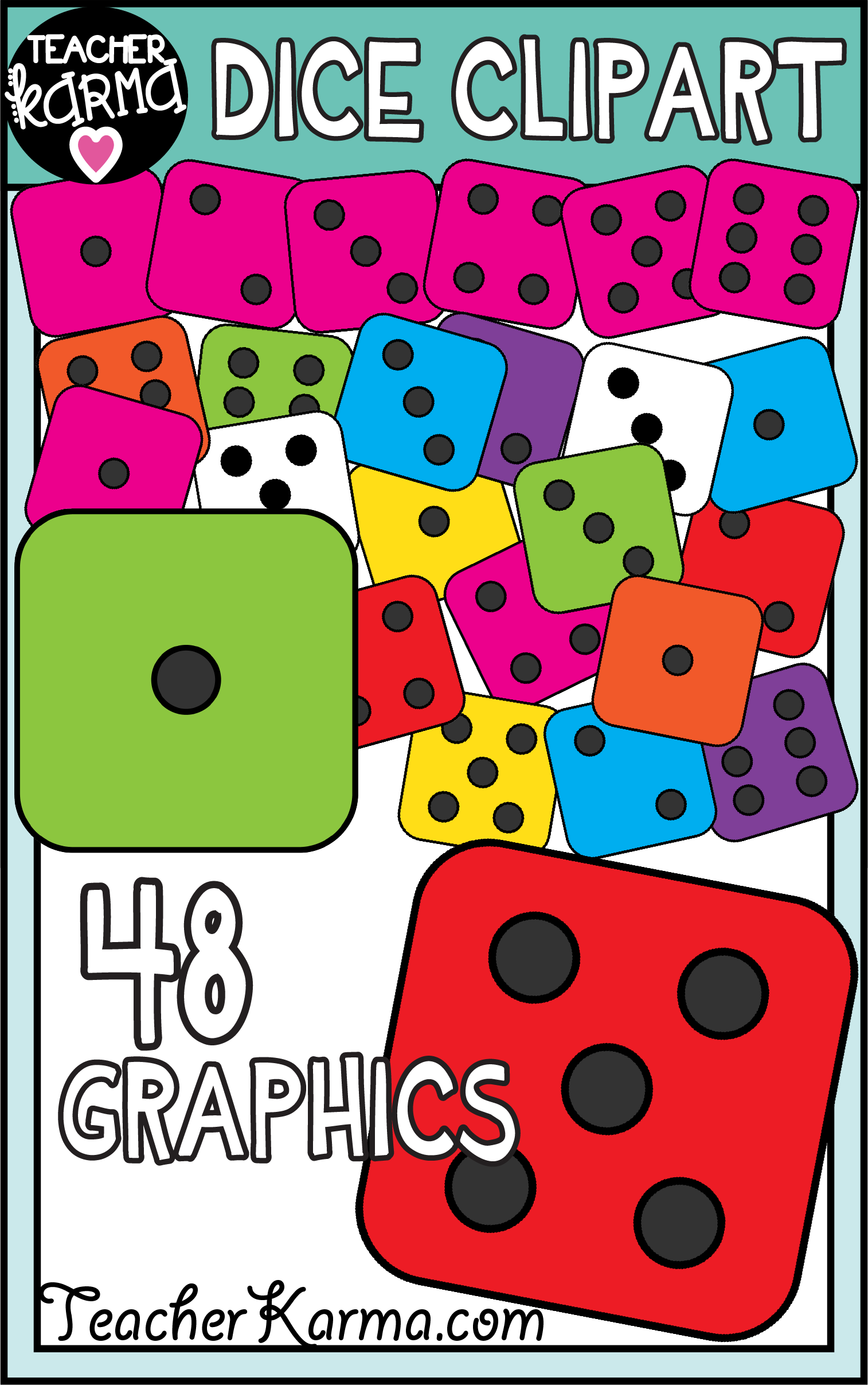 click on the pin to grab your dice clipart with 48 graphics these are perfect [ 1514 x 2414 Pixel ]