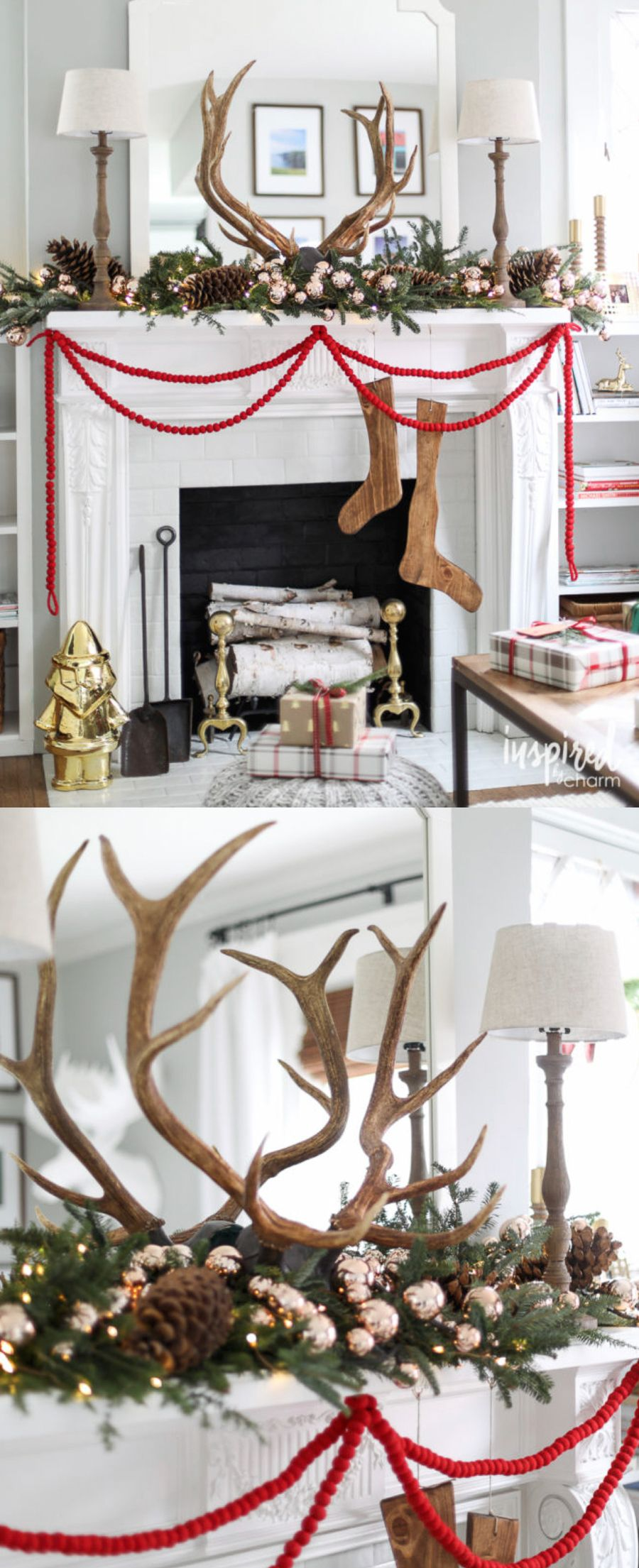 Modern Farmhouse Style Mantel more Christmas Mantel