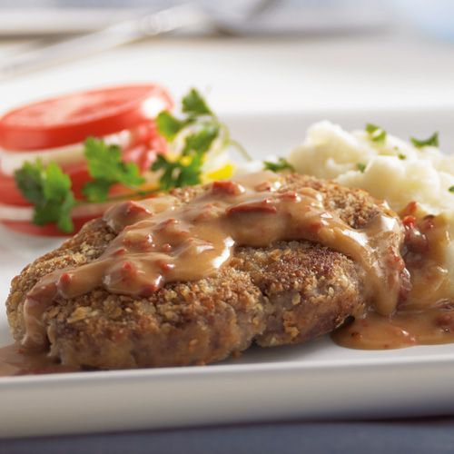 """Photo of Country-Fried """"Steaks"""" with Chipotle Gravy-Country-Fried """"St…"""
