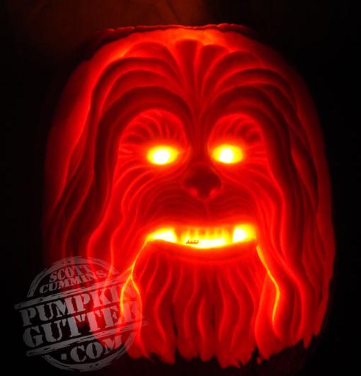 chewbacca star wars pumpkin carving - Star Wars Halloween Pumpkin Carving Patterns
