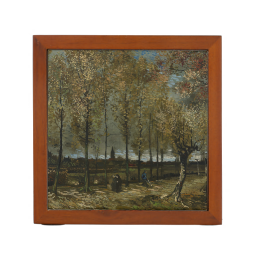 Poplars Near Nuenen by Vincent Van Gogh Pencil Holder