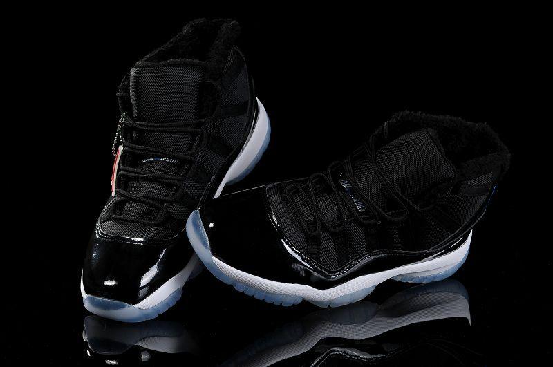 TOP A+ Nike Air Jordan 11 Space Jam with Fur Inside White Black from  www.dragonkicks.us  d3350b011