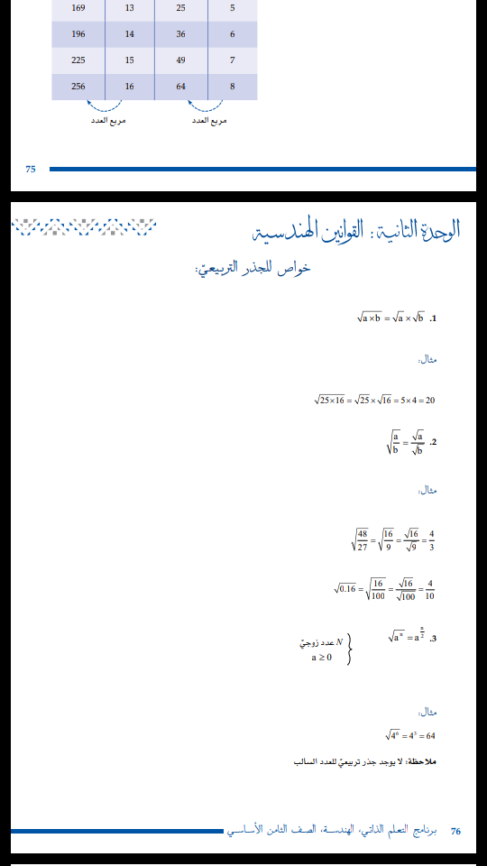 تم الإجابة عليه هندسه صفحه ٧٦ للصف الثامن كل الصفحه 75th