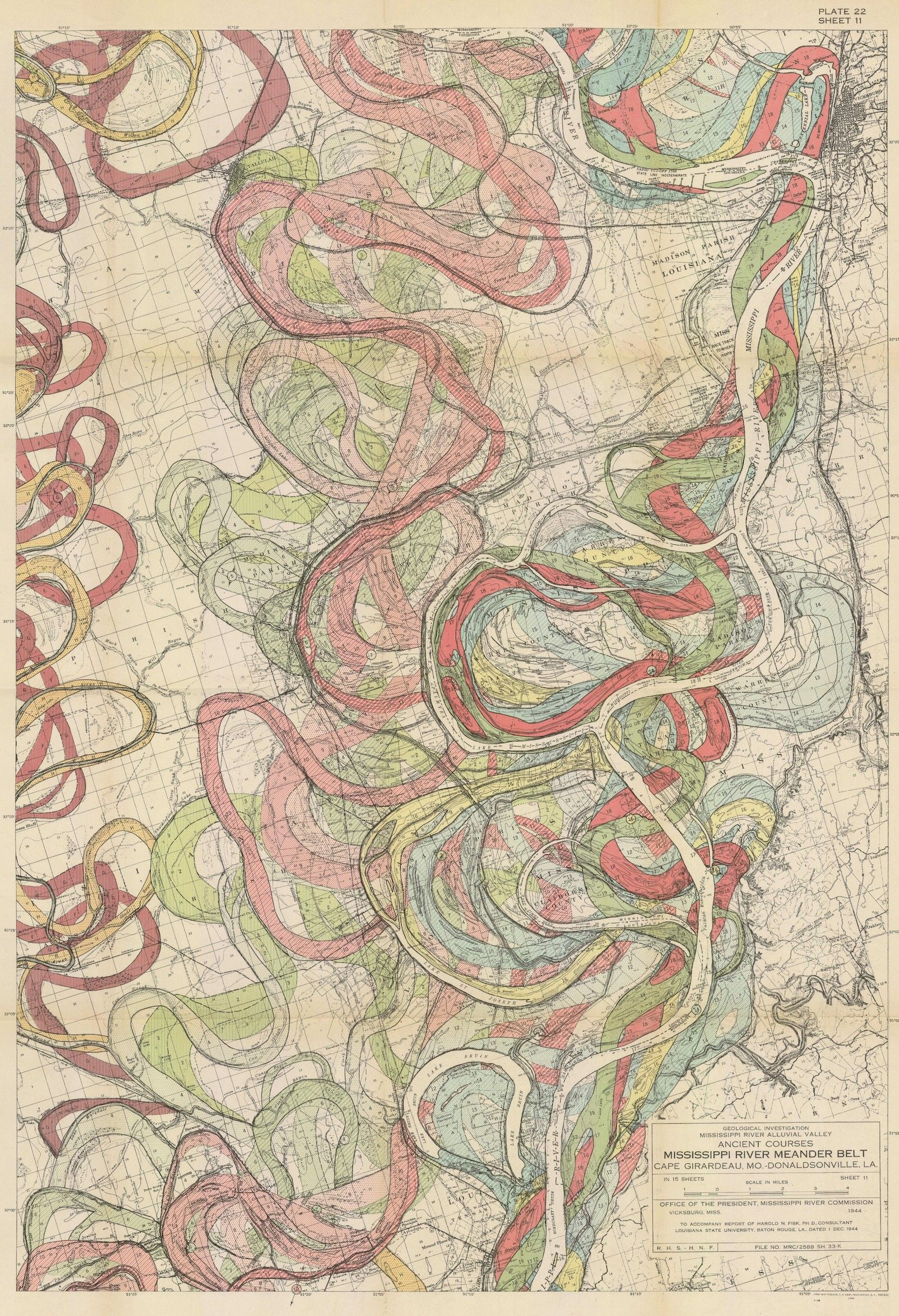 Harold Fisk S Incredible Maps Track The Ghosts Of The