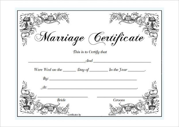 Vintage Marriage Certificate Design Template In Psd Word: Certificate-templates-marriage-certificate-template