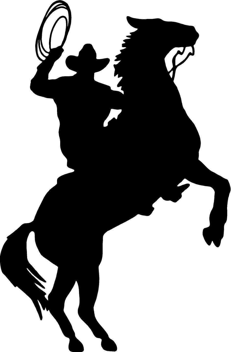 Silhouette western google search christmas gifts pinterest cowboy horse rider western wall decal home decor silhouette large 20 x 13romoveable amipublicfo Images