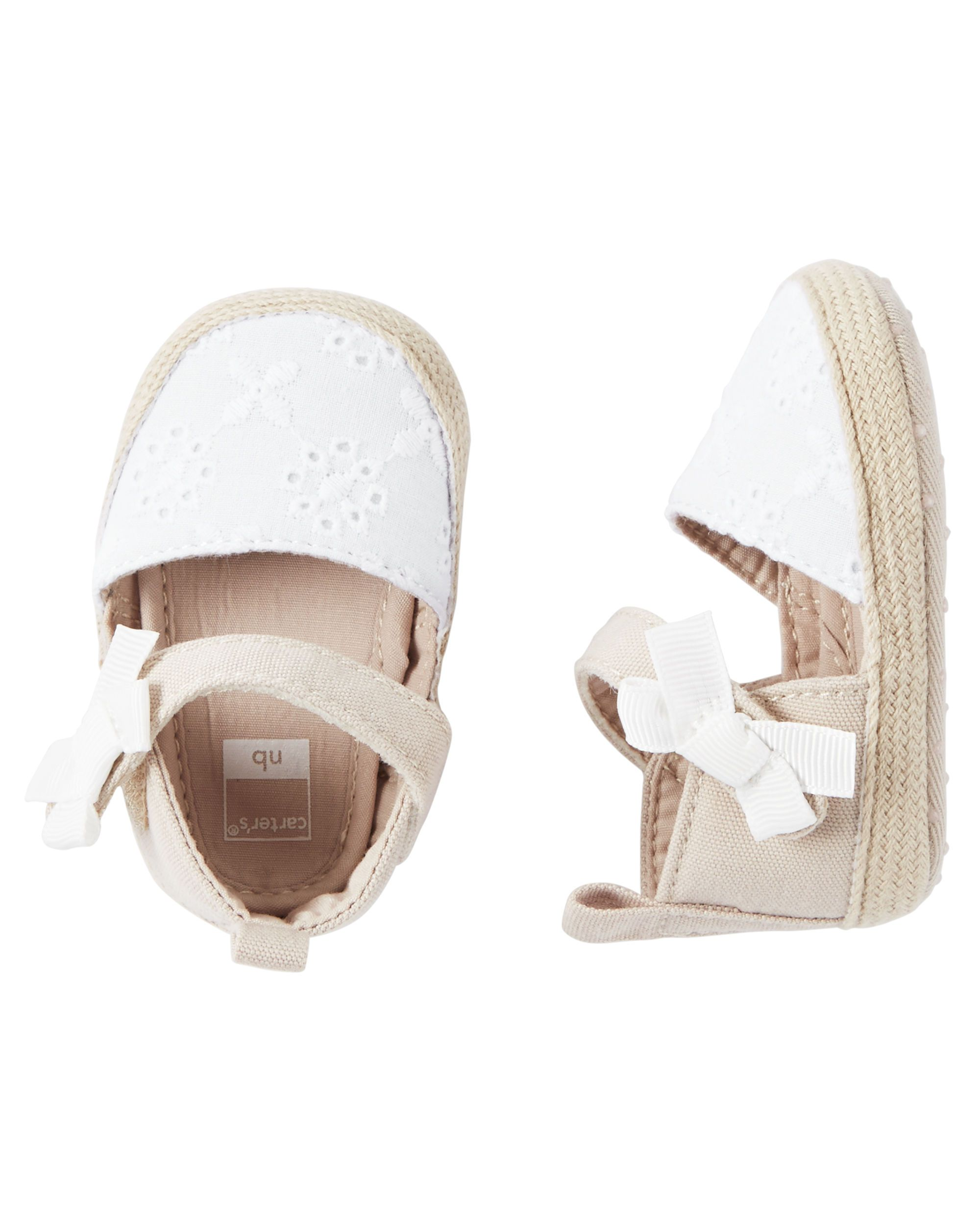 47ce9093693aa Baby Girl Carter s Espadrille Crib Shoes