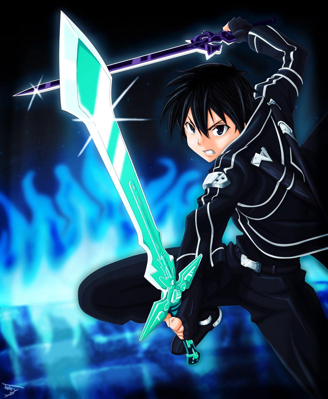 Kirito Dual Blade By Tobeyd On Deviantart Kirito Sword Art Online Kirito Kirito Sword