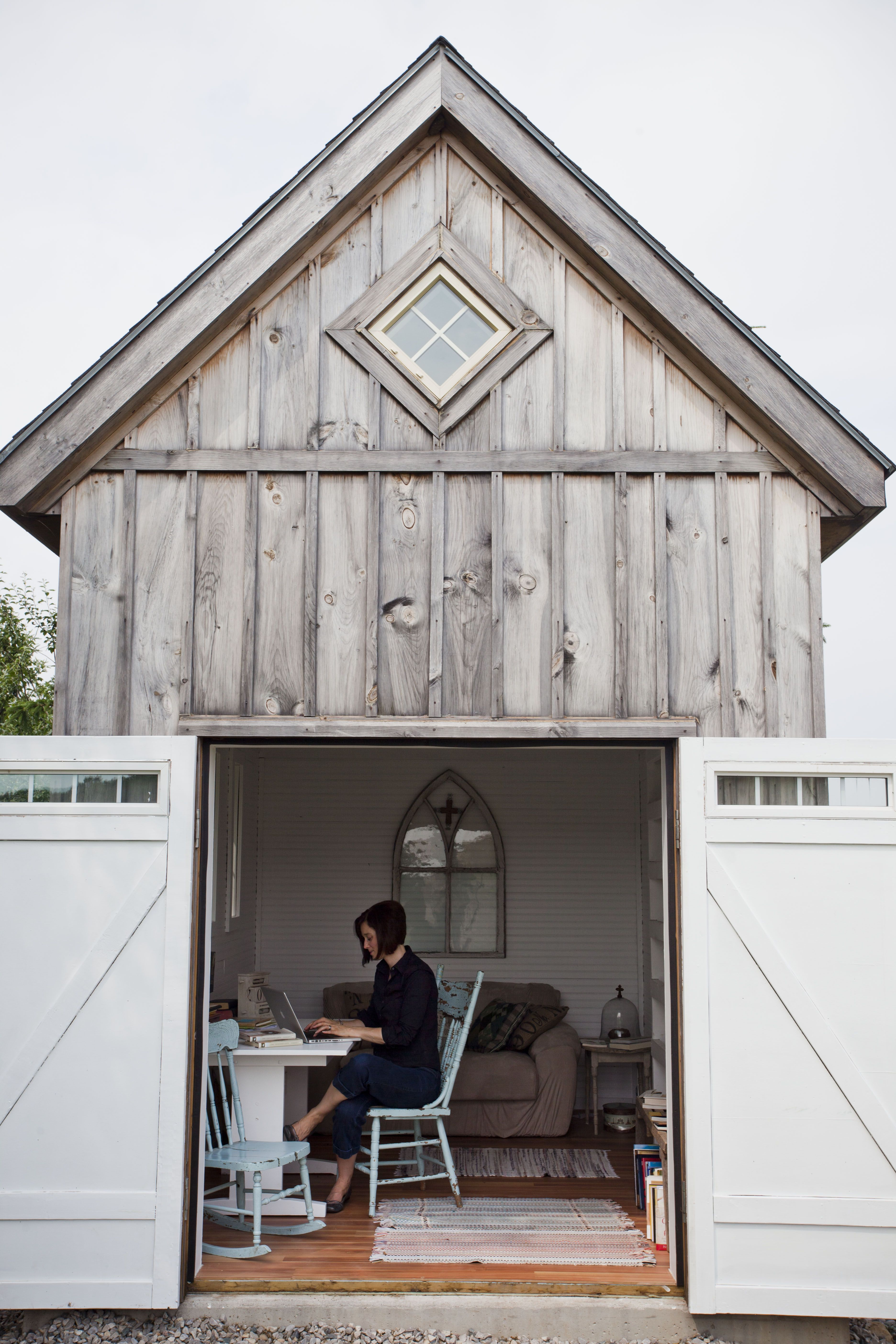 tiny backyard home office. A Small Barn Is Transformed Into An Amazing Outdoor Home Office Or Craft Room. Design Eight Co.,ltd WORKS -Interior Works Eigh. Tiny Backyard