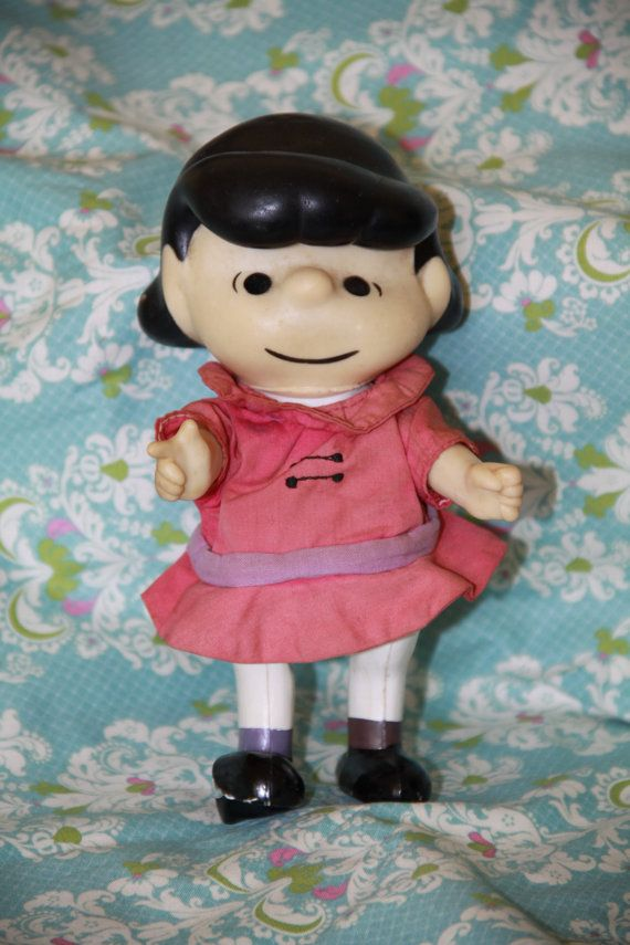 1966 Peanuts Lucy Doll Vintage By Buttonhousevintage On Etsy 15 00 Snoopy Love Peanut Dolls