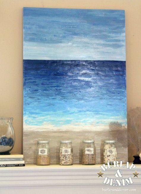 Diy Abstract Ocean Paintings Anyone Can Make Coastal