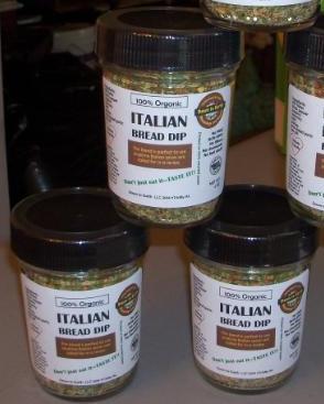 Italian Bread dip/ mix 4 oz. jars 9.00. Mix and/ or