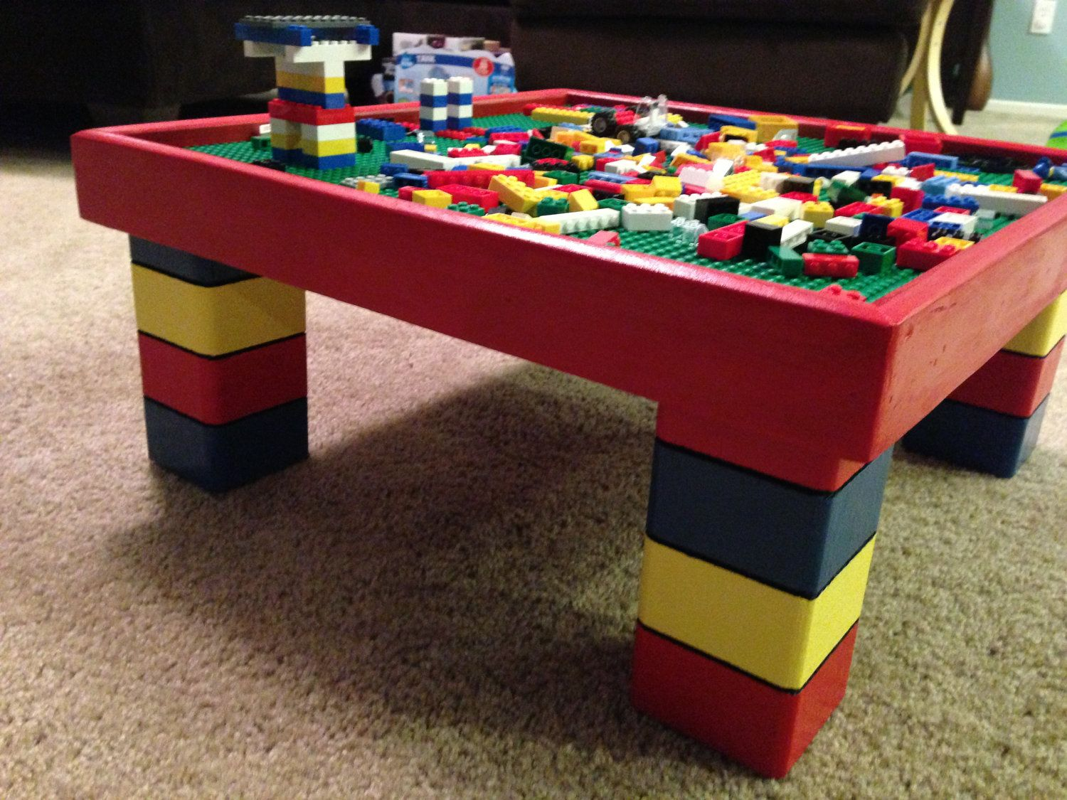Custom Lego Tables 20x20x10 By WooderfulCreations On Etsy, $149.00