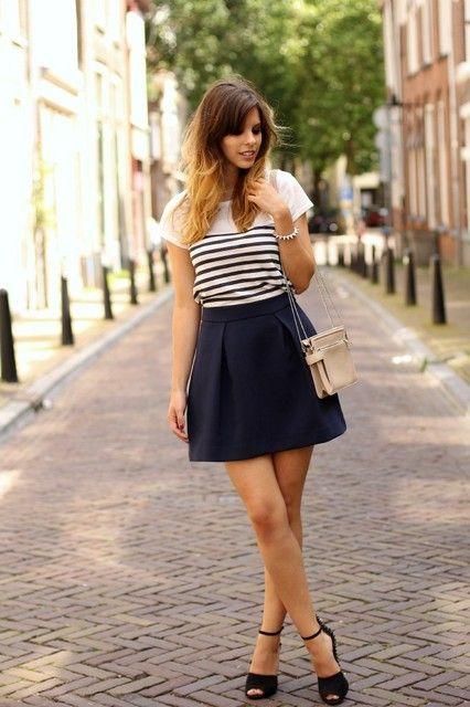 Navy Style Trendtation | Fashion Inspirations | Moda, Moda