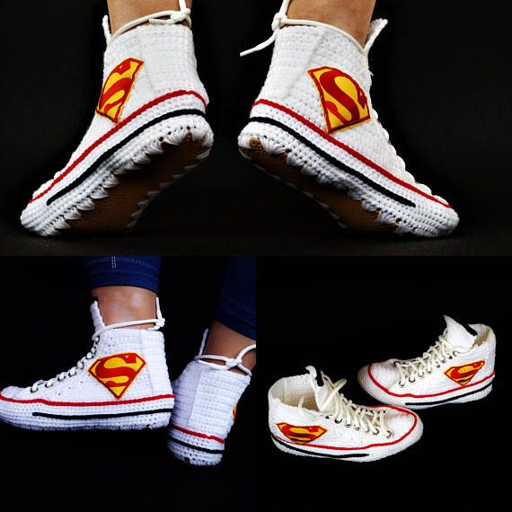 Knitting Crochet Converse Chuck Taylor All Star Hi Superman