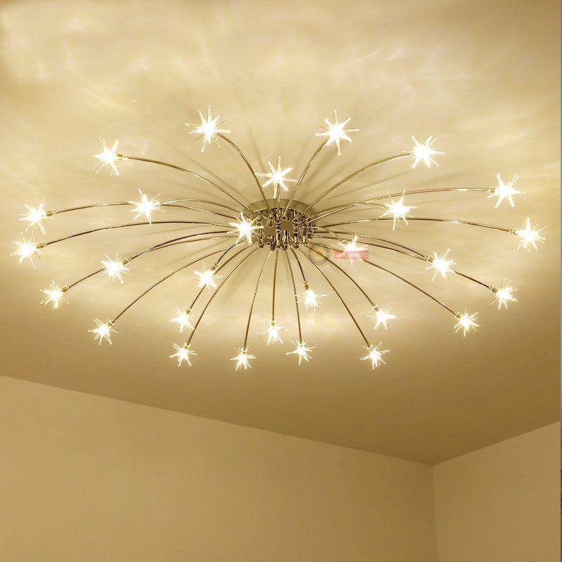 Modern Meteor Glass Dandelion Led Chandelier Pendant Lamp Ceiling Lighting Light Led Chandelier Star Lights On Ceiling Ceiling Lights